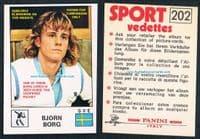 1974 Bjorn Borg °rookie° Grade 9/10 MINT sealed packet Sport Vedettes Panini -see Borg thru paper!